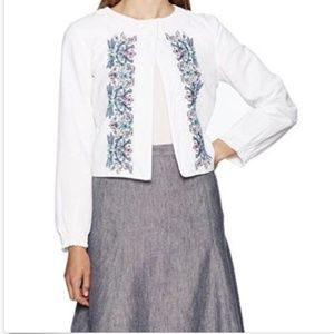 Nanette Lepore Crop Jacket w Embroidery NWT